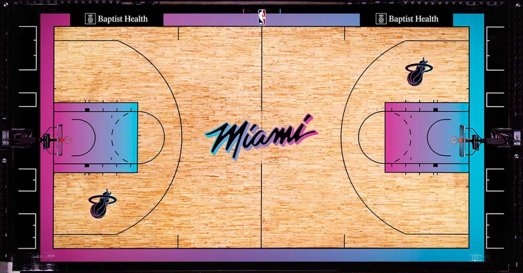 Miami Heat City Edition Court