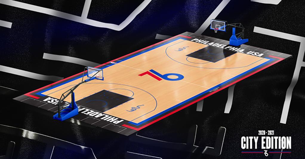 Philadelphia 76ers City Edition Court